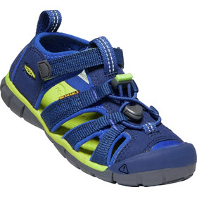 Keen Seacamp II CNX Sandals Barn blue depths/chartreuse
